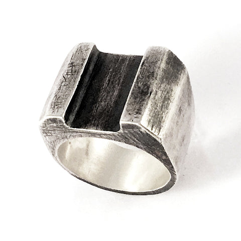 Acrull Solid Silver Ring