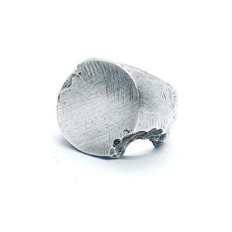 Aghi Solid Silver Ring