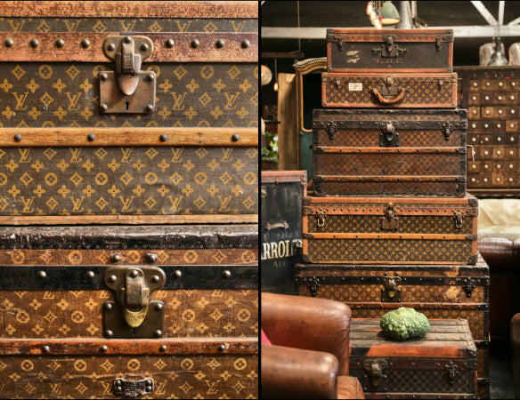 Vintage Vuitton trunks from BD Antiques