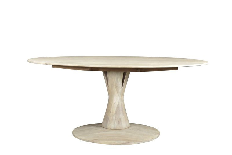 ASPEN OVAL DINING TABLE - WHITE WASH