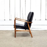 LEATHER HELSINKI CHAIR - SLATE