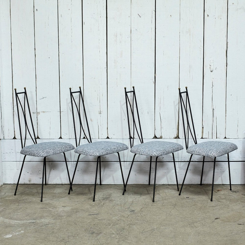 Mid Century Iron Chair Set