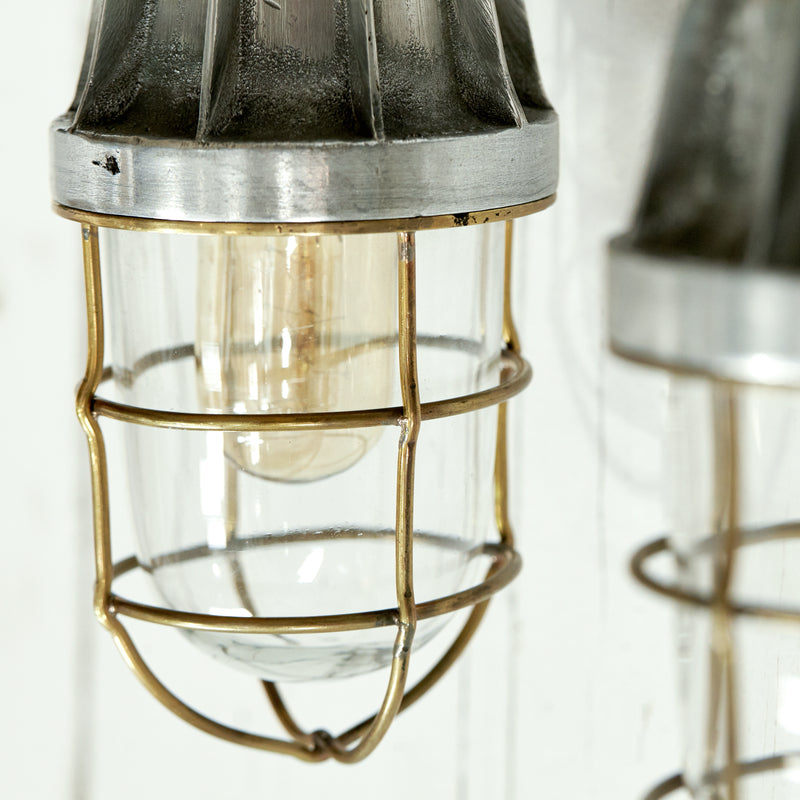 Vintage Ship Light with Cage