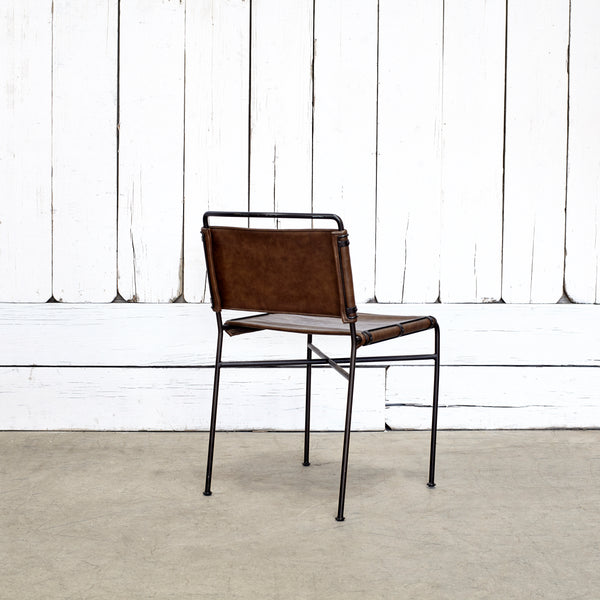 Wharton Dining Chair - DISTRESSED BROWN