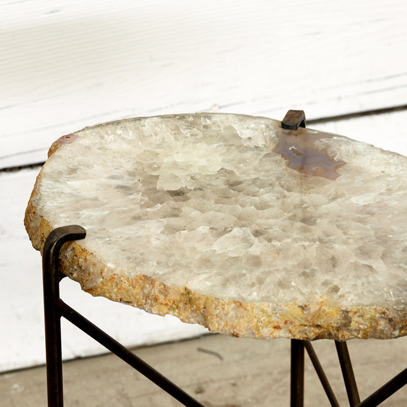 Custom Agate Side Table