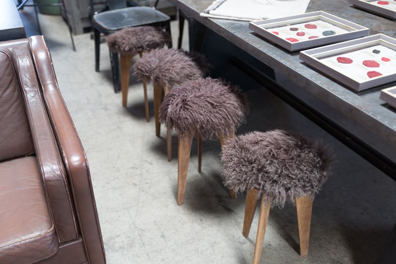 GOAT HAIR STOOL