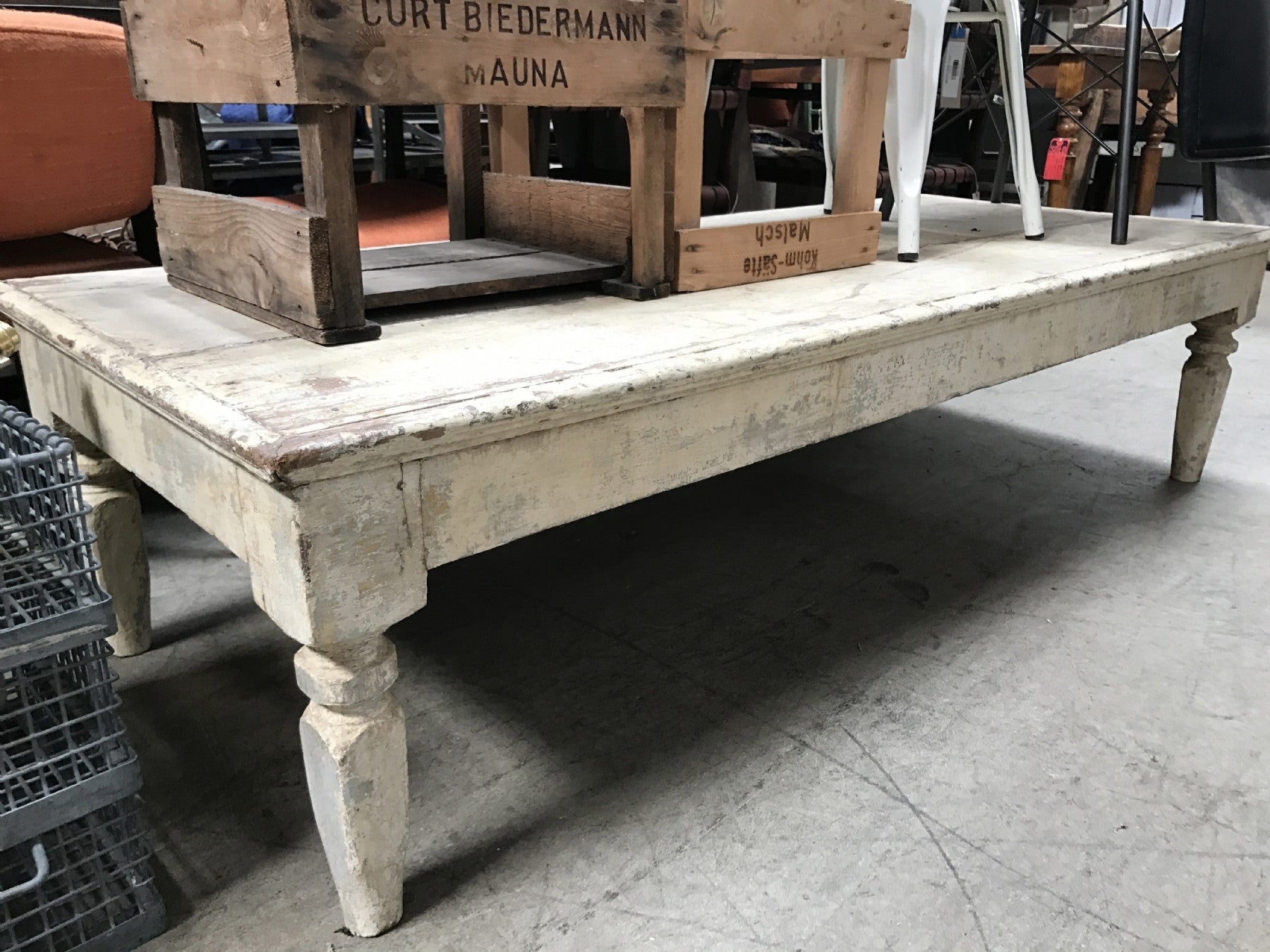 RUSTIC WOOD COFFEE TABLE BD Antiques