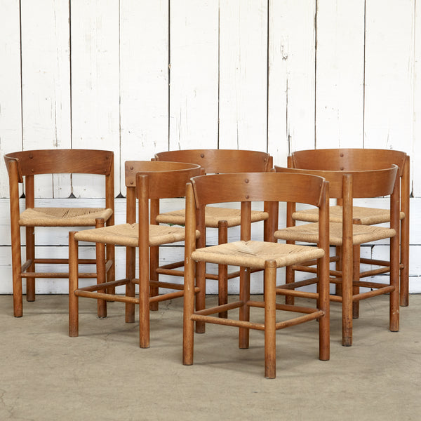 Mogens Lassen for Fritz Hansen Dining Chair Set of 6