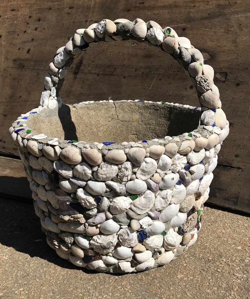 Shell Basket Planter