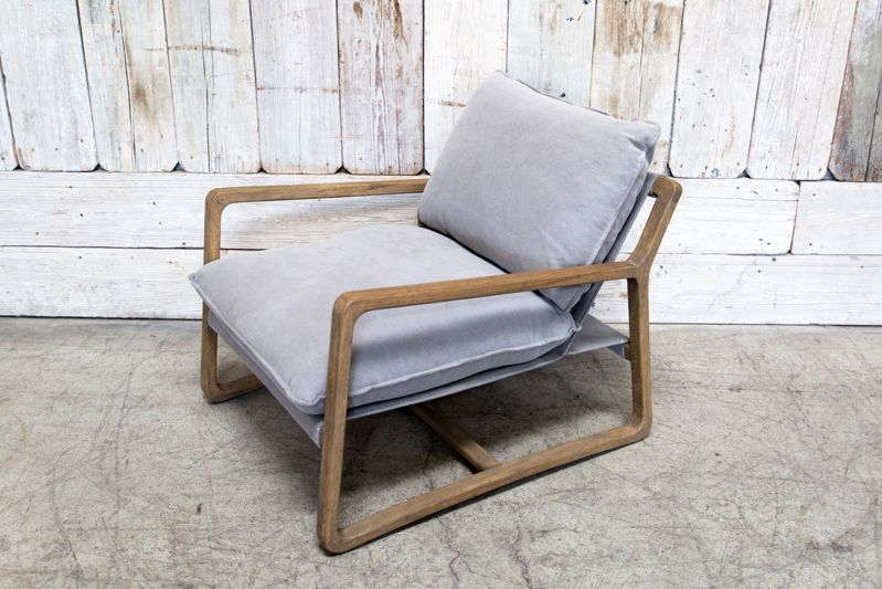 ACE CHAIR - PEWTER - WOOD FRAME