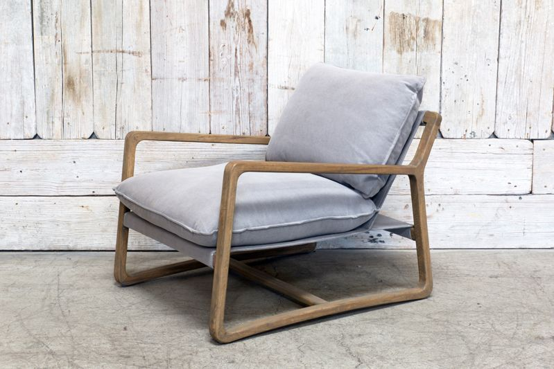 ace chair pewter wood frame - Wood Frame Chair
