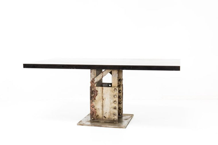 CUSTOM BRIDGE BASE DINING TABLE