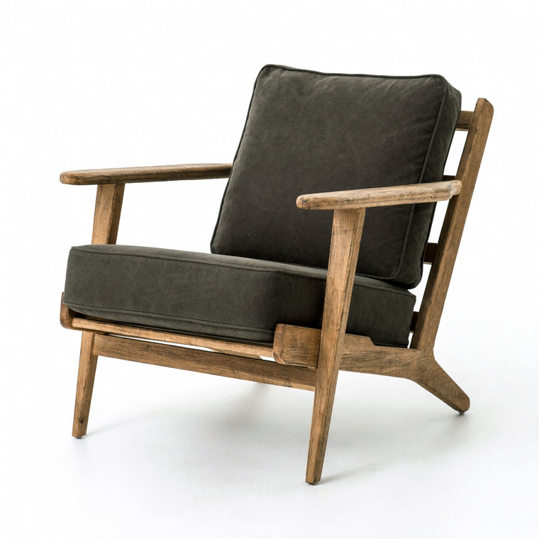 BROOKS LOUNGE CHAIR - STONEWASH DARK GREEN