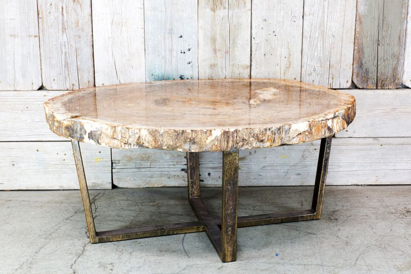 Charmant CUSTOM PETRIFIED WOOD COFFEE TABLE ...