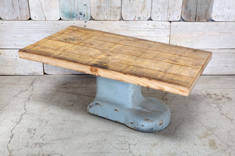 CUSTOM COFFEE TABLE W/ WOOD TOP