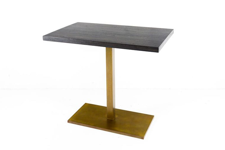 CUSTOM BAR HEIGHT TABLE WITH WOOLD TOP