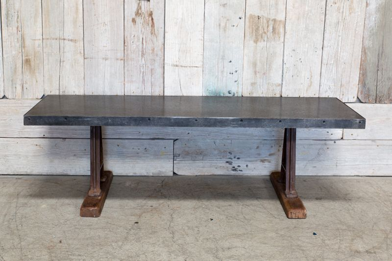 CUSTOM GALVANIZED METAL COFFEE TABLE