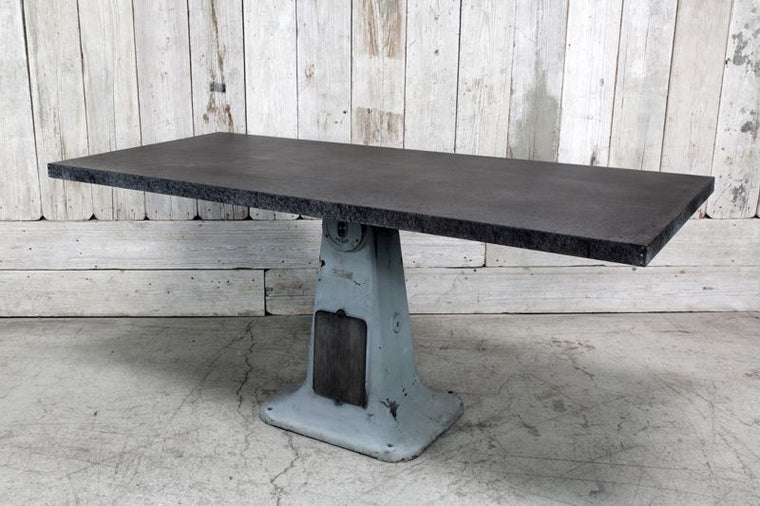 CUSTOM INDUSTRIAL BASE TABLE W/ STEEL TOP