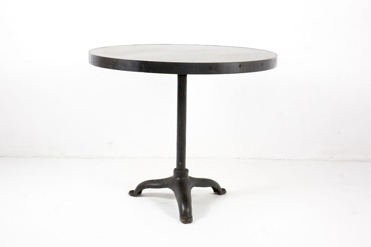 CUSTOM ROUND TABLE W/ METAL TOP
