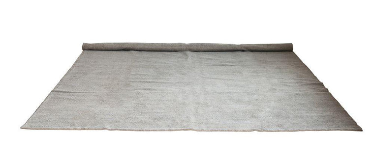 8'x10' COTTON CHENILLE & JUTE RUG-GREY
