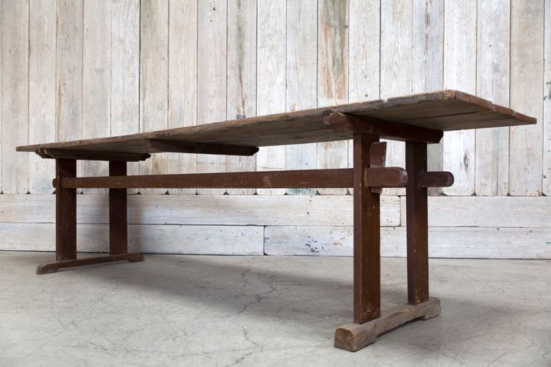 VINTAGE WOOD FARM TABLE