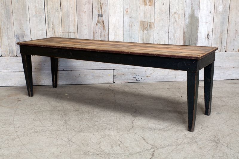 Delicieux VINTAGE WOOD FARM TABLE ...