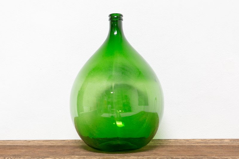 GREEN BALLOON JUG / DEMIJOHN - LARGE