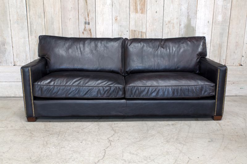 "LARKIN 88"" OLD SADDLE BLACK SOFA"