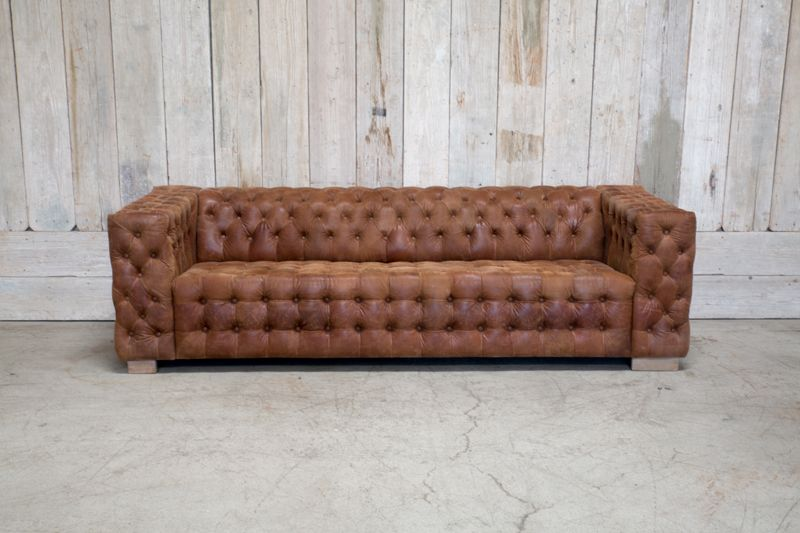 PELLY TUFTED SOFA - TAN