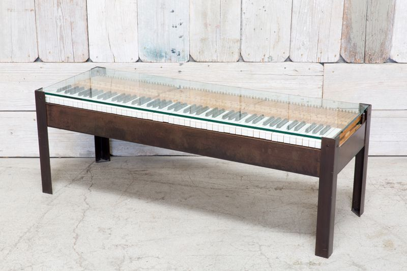 REPURPOSED PIANO BENCH COFFEE TABLE