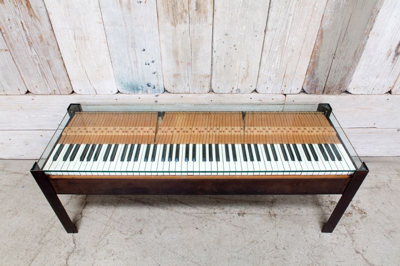 REPURPOSED PIANO BENCH COFFEE TABLEBD Antiques