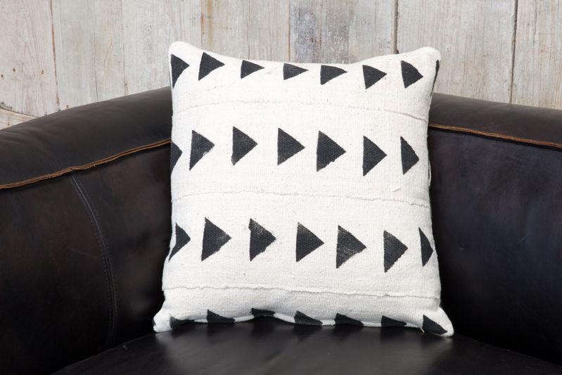 CUSTOM VINTAGE AFRICAN MUDCLOTH PILLOW D/S - SMALL