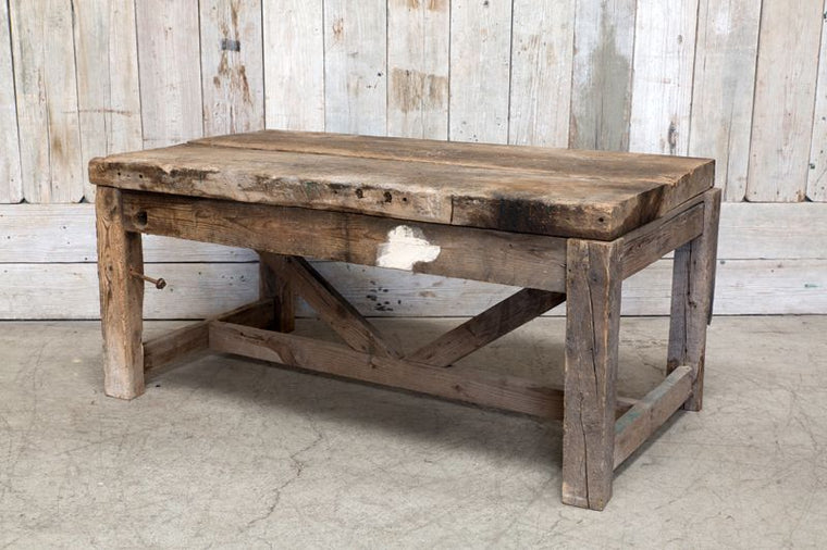 PRIMITIVE WOOD WORK TABLE
