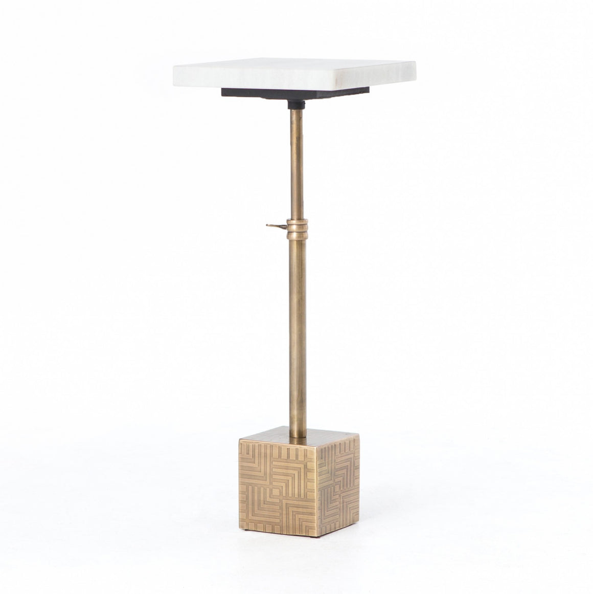 SIRIUS ADJUSTABLE ACCENT TABLE - ANTIQUE BRASS