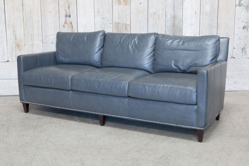 ... STUDDED VINYL SOFA   GRAY ...