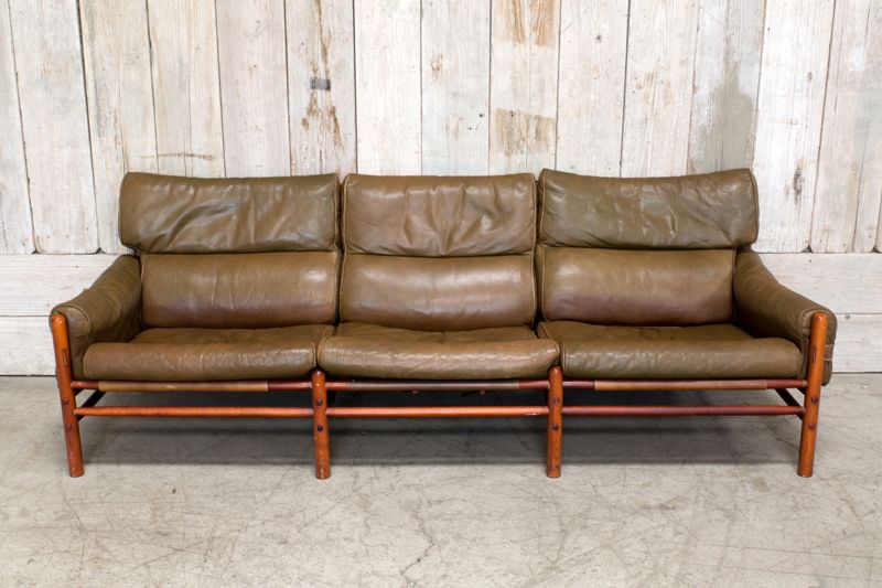 VINTAGE NORELL LEATHER 3 - SEATER SOFA