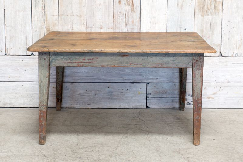 VINTAGE PAINTED WOOD TABLE