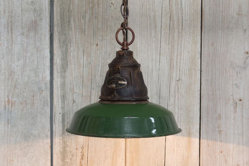 VINTAGE PENDANT LIGHT - GREEN