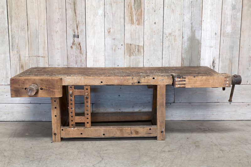 VINTAGE WOOD WORK TABLE