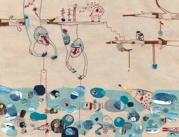 Reviving embroidery: the comeback of the crafting tradition as art in the digital world.