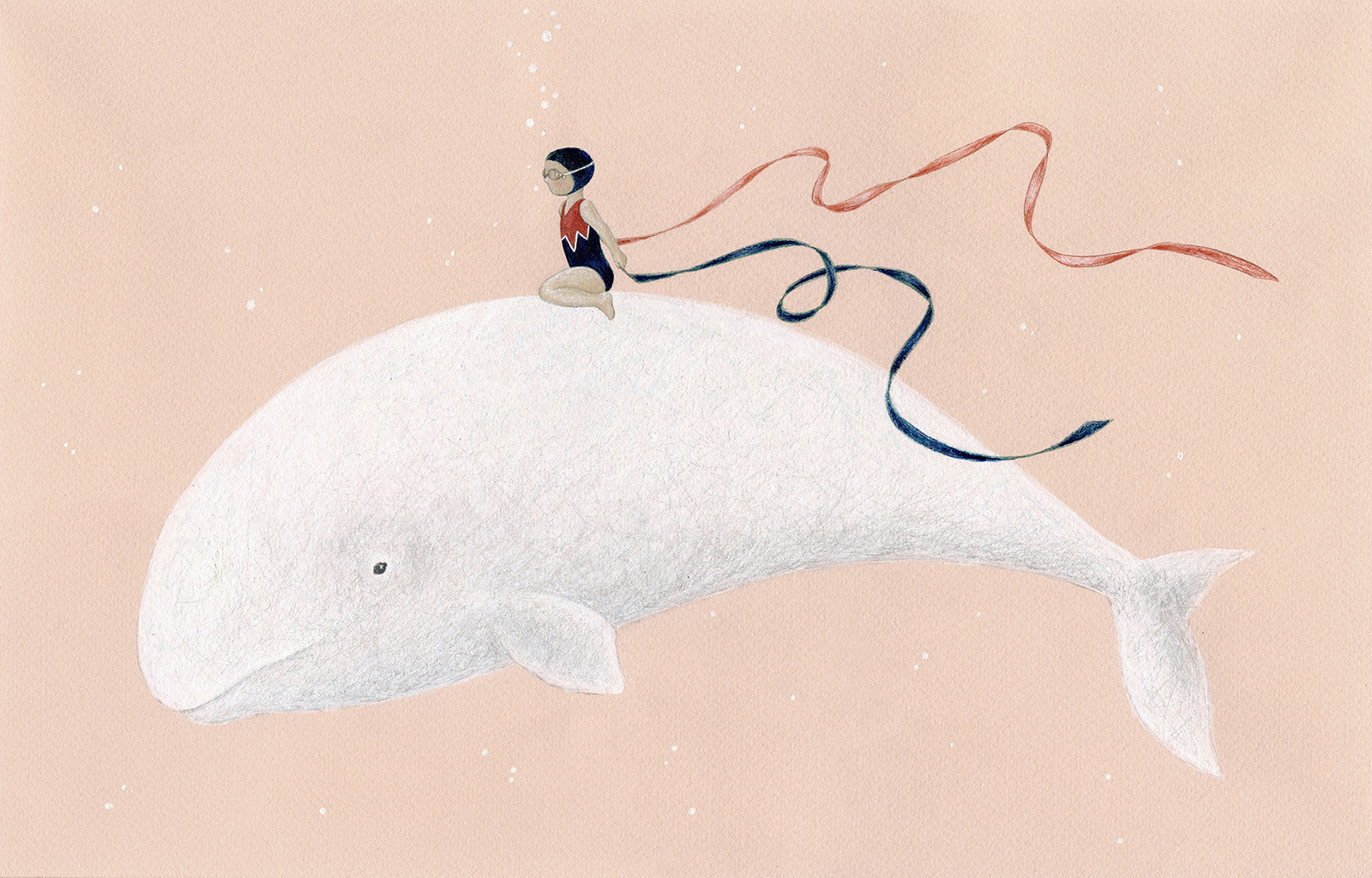 A little girl riding a whale by Jessica Pressman