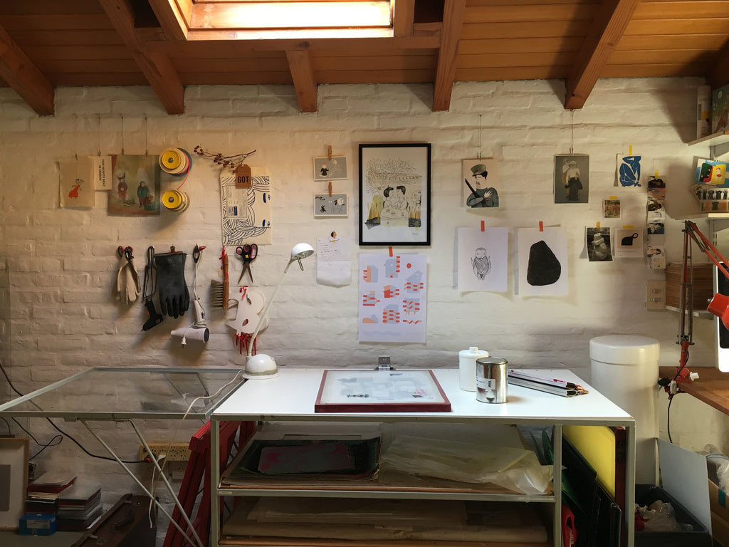 Watch Angela Corti in her studio