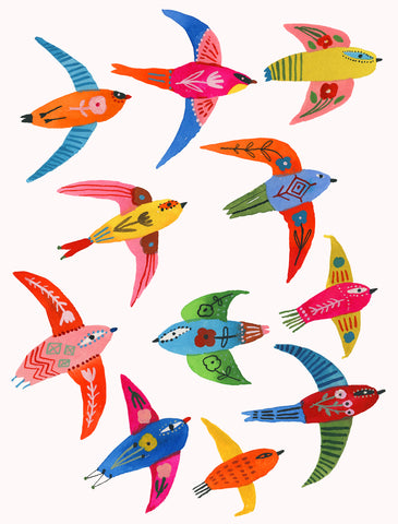 bird flock carolyn gavin toi art gallery prints
