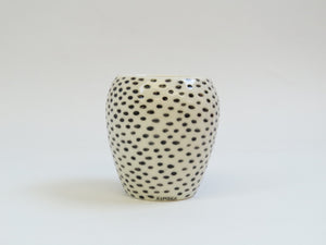Polka dot vase by Kinska Ceramics