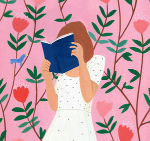Reading in the garden by Virginie Cognet