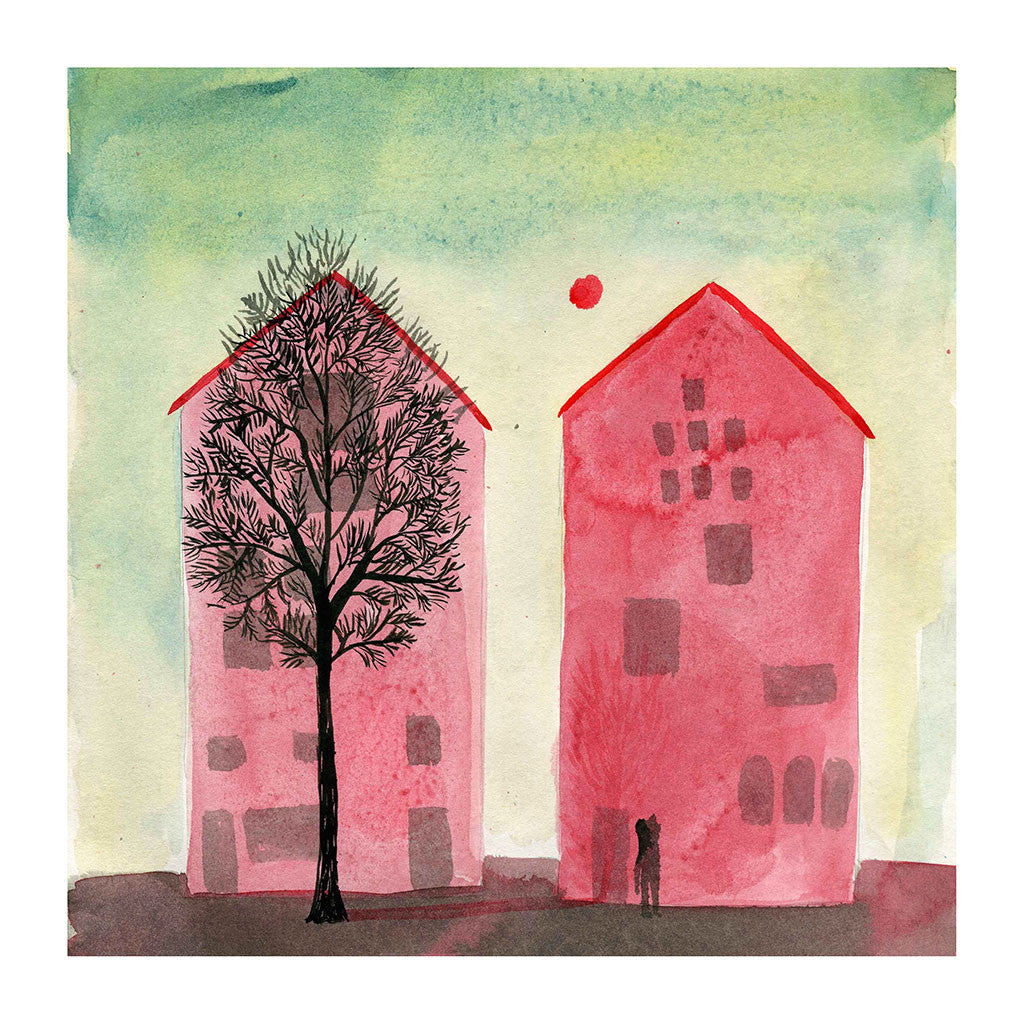 Red Houses by Violeta Lopiz - Toi Gallery