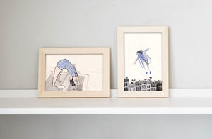 "1. ""The little press"" &  2. ""Dream, flying"" by Inbar Algazi -Diptych"