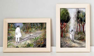 "1.""You are my forest"" &  2.""Promenade"" by Inbar Algazi- Diptych"