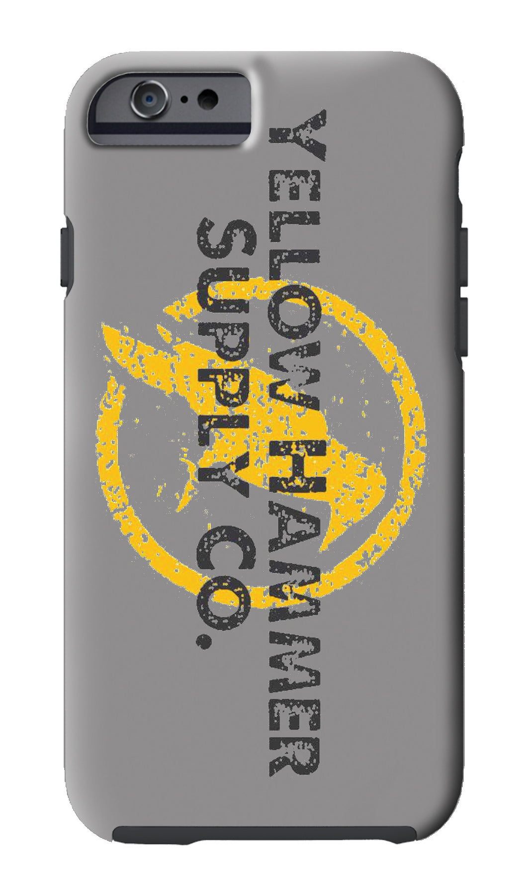 IPHONE CASE WITH YELLOW HAMMER SUPPLY CO. (White and Gray)