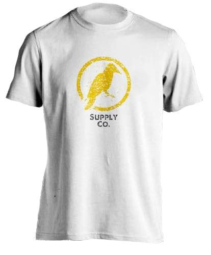 FRONT PRINT T-SHIRT (White and Gray) - Yellowhammer Supply Co.